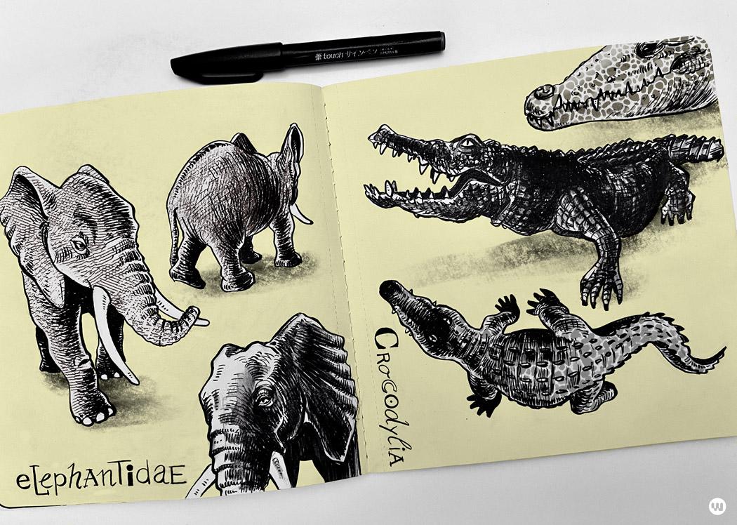 Elefanten-Krokodile-kl